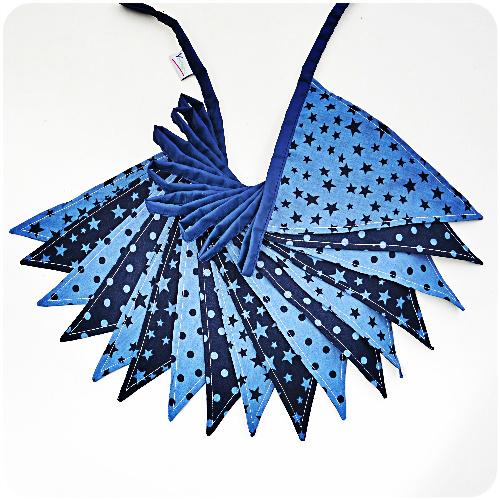 Stoffen feestslinger jeansblauw